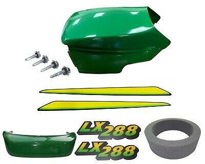 New Upper&Lower Hood/Bumper/Foam Isolator/LH&RH Stickers Fits JohnDeere LX288LOW