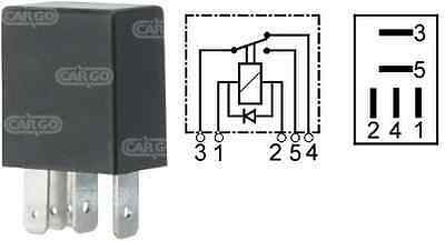 12V 5 Pin Terminal Micro Mini Relay Change Over 15/25A With Diode 160366 Cargo