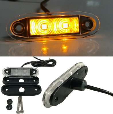 LED FLUSH FIT KELSA LIGHT BAR MARKER LAMP LIGHT 12v 24v AMBER 1001-4500A BOREMAN