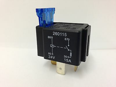 4 Pin FUSED RELAY SWITCH NORMALLY OPEN 24V 15A 4 TERMINAL 1026 Wood