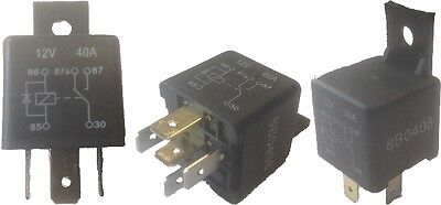 MINI CHANGE OVER WITH DIODE RELAY SWITCH 12V 40A 5 PIN TERMINAL 1018B Wood