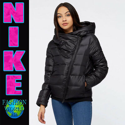 Nike Women's Size XS Sportswear Duck Down Hooded Jacket 854767 Black