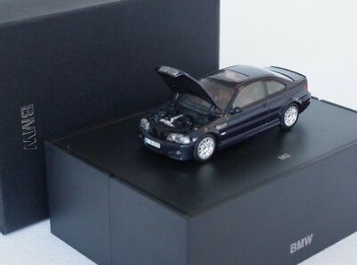 1:43 Bmw 3 Er 3-Series E46 M3 Coupe Carbon Black Schwarz Blue Blau Minichamps