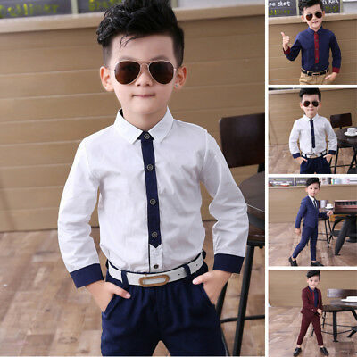 Solid Color Baby Prom Suit Children Kid Blazer Boys Party Wedding Formal Tuxedos
