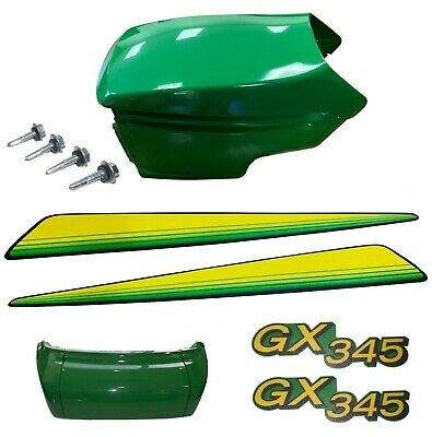 New Upper & Lower Hood/Bumper/LH&RH Stickers Fits John Deere GX345
