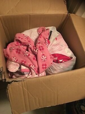 Box Of Baby Girls Clothes , Bibs , Beanies And More Sizes From 0000-12months