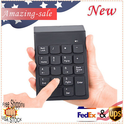 Wireless 2.4GHz Number Pad Numeric Keypad 18 Keys Keyboard Use For Desktop PC