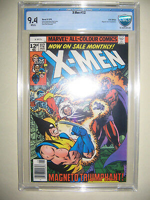 X-Men  112  9.4 CBCS graded. High grade PENCE collection.