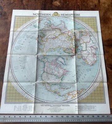 1946 National Geographic Vintage Wall Map Of The Northern Hemisphere