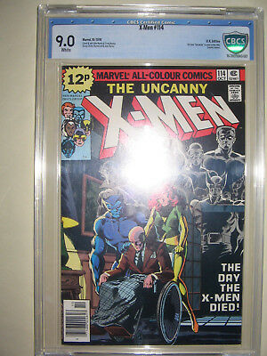X-Men  114  9.0 CBCS graded. High grade PENCE collection.