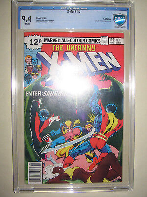X-Men  115  9.4 CBCS graded. High grade PENCE collection.