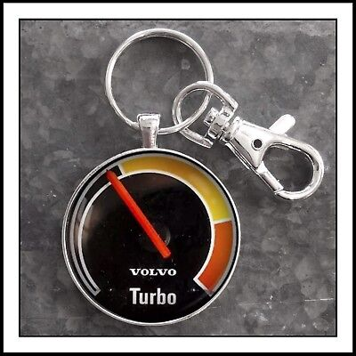 Vintage Volvo 240 Turbo Boost Gauge Photo Keychain Father's Day Gift