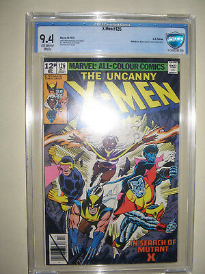 X-Men  126  9.4 CBCS graded. High grade PENCE collection.
