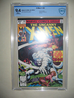 X-Men  140  9.4 CBCS graded. High grade PENCE collection.