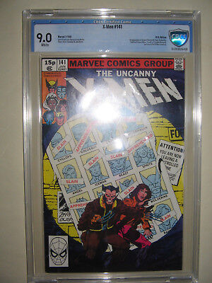 X-Men  141  9.0 CBCS graded. High grade PENCE collection.