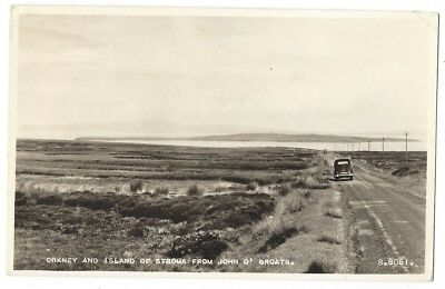 ORKNEY and ISLAND of STROMA from John O' Groats, RP Postcard by Valentine Unused