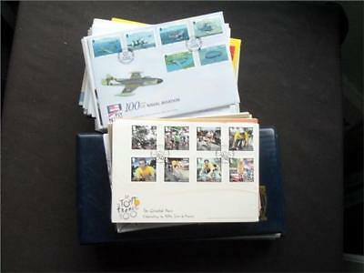 13867aj ISLE OF MAN FIRST DAY COVERS COLLECTION INCLUDES MANY YEAR 2000 ONWARDS
