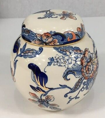 Masons Ironstone Prunus Ginger Jar Cathay Boxed 13cm In Height
