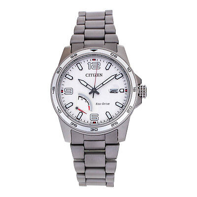 NEW Citizen PRT Eco-Drive AW7031-54A Stainless Steel Silver Dial Men's Watch