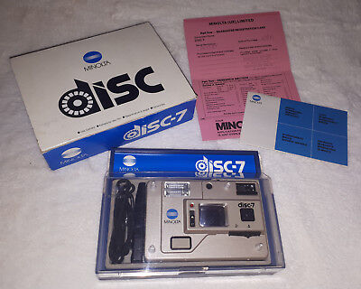 Minolta Disc-7 Vintage 1987 Disc Camera Boxed With Papers Excellent Condition