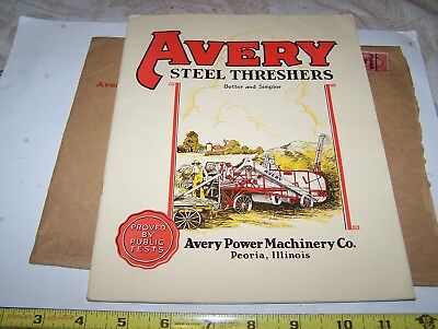Old AVERY Threshing Machine Sales Catalog Steam Tractor Hit Miss Gas Engine NICE