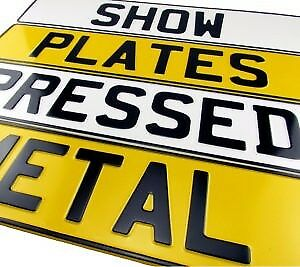 Pressed Number Plates (white&yellow)(black&silver) 100% Legal.