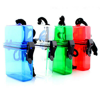 Plastic ABS Waterproof Container Key Money Storage Box for Outdoor Sports