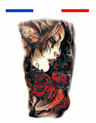 Tatouage Temporaire Ephemere Realiste Femme Fee Rose Tattoo Ink