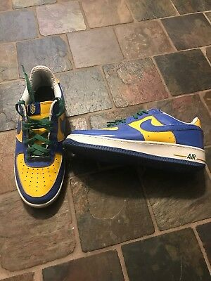 super popular 71779 f89d4 Nike Air Force 1 Premium Brazil World Cup Size 11. Blue Yellow Green White