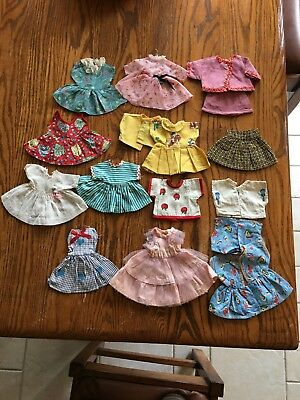 Vintage Lot of Doll 1950's Collectors Clothes,13 Outfits,