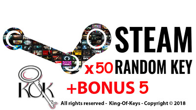 50 Random Steam Key + BONUS 5 keys (REGION FREE)