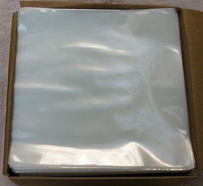 """New   50 CLEAR 3MIL POLY OUTER SLEEVES FIT SINGLE 12"""" LP RECORD"""