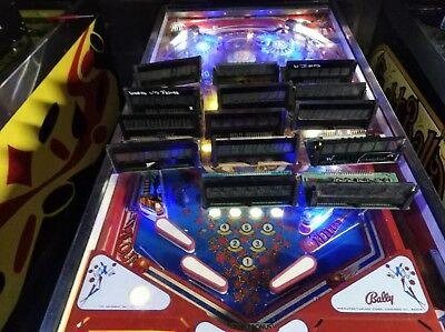 bally and Stern pinball 6 digit displays and 1 -7 digit total of 14