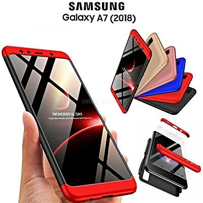 COVER per Samsung Galaxy A7 2018 CUSTODIA Fronte Retro 360° ORIGINALE ARMOR CASE