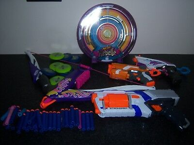 Collection of  Nerf Guns/Bows & Accessories dart ammo Rebelle strongarm Job Lot