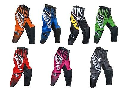 Wulfsport Arena Cub Race Pants Motorbike Motocross MX Leisure Kids