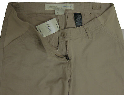 New Womens Beige Maternity Chino NEXT Trousers Size 8 Regular