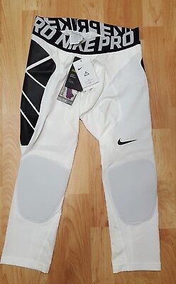 NIKE PRO Mens Med White Hyperstrong Slider Baseball Compression Tight Pants NWTs