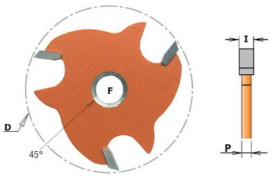 K922 CMT cutters disc for Lateral Grooves and grooves
