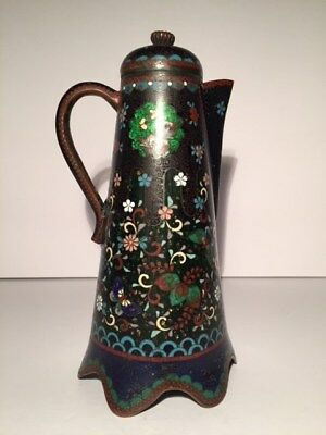 Antique Japanese Meiji Period Cloisonne Teapot / Pitcher