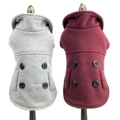 Dog Jacket Hoodie Pet Polyester Puppy Coat Winter Warm Casual Clothes Apparels