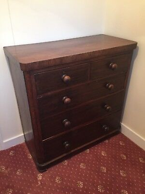 Large Antique Mahogany Chest Of Drawers