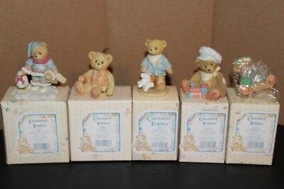 Cherished Teddies Lot of 5 Excellent Pre-Owned Condition & New
