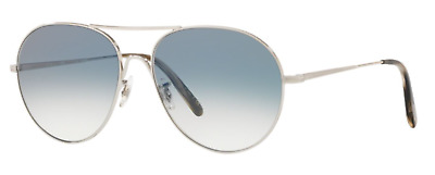 d6886ac8612 Oliver Peoples OV 1218S Rockmore 50363F Silver w Chrome Sapphire Sunglasses
