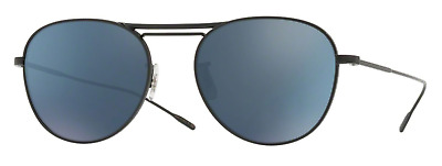 8667a09a97 Oliver Peoples OV 1226S Cade 5062W6 Matte Black w Teal Blue Mirror  Sunglasses