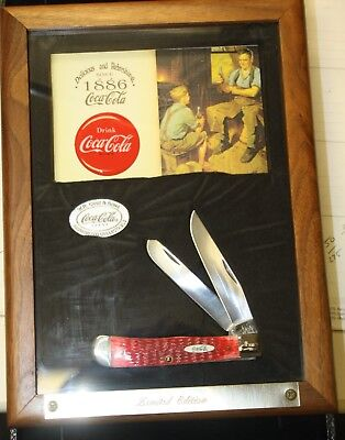 Case Coca Cola Limited Edition Trapper Knife Wood Display #356 of 500