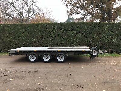 ifor Williams 14ft tri axle flatbed trailer with ramps in sussex* 3.5 tonne*