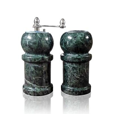SET DA CUCINA Sale e Pepe Marmo Verde Green Italian Marble Salt and ...