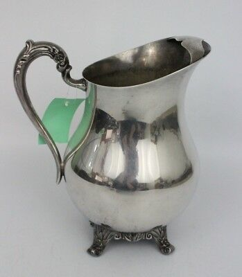 """Vintage FB Rogers Silver Co 9"""" Water Pitcher with Ice Stop Lip 3707"""