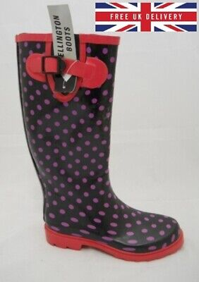 12ff800da10 Wyre Valley Ladies New Wellies Wide Calf Waterproof Wellington Boots Size  UK 3-8